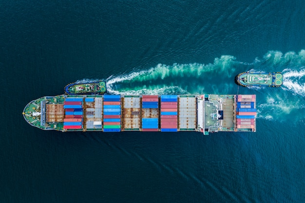 Zakelijke verzending vrachtcontainers importeren export vracht internationaal uit thailand