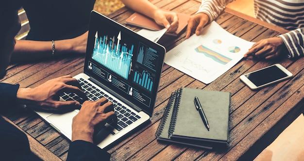 Zakelijke visuele gegevensanalysetechnologie door creatieve computersoftware