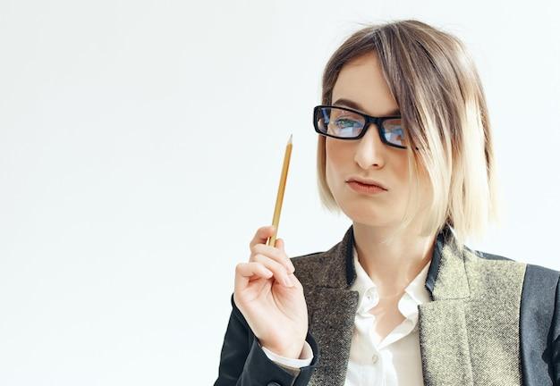 Zakelijke vrouw kantoor baan advertentie kopieer ruimte