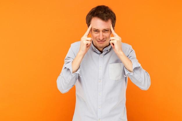Zakenman heeft migraine