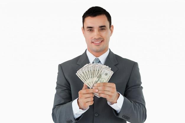Zakenman met bankbiljetten