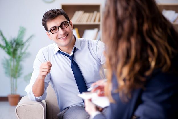 Zakenman op psycotherapie