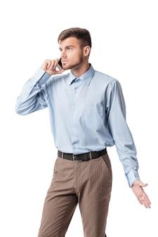 Zakenman praten aan de telefoon