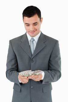 Zakenman tellen bankbiljetten