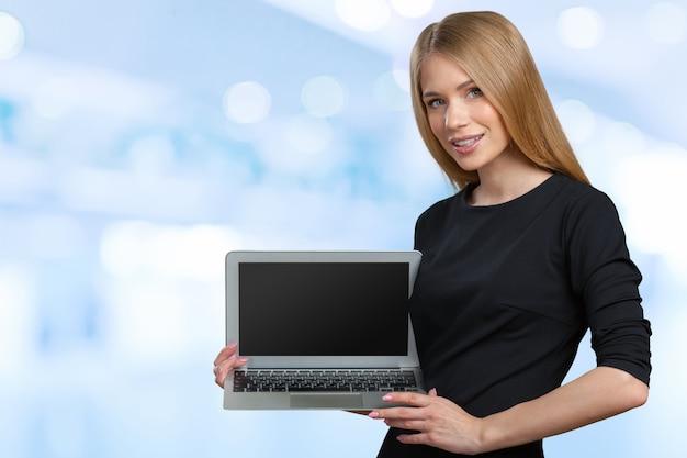 Zakenvrouw met laptop