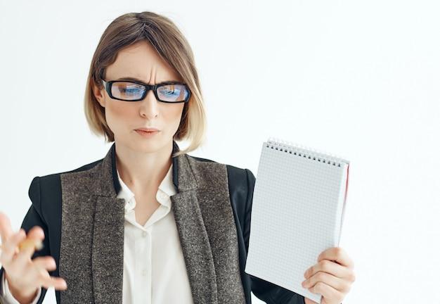 Zakenvrouw office job advertentie kopie ruimte. hoge kwaliteit foto