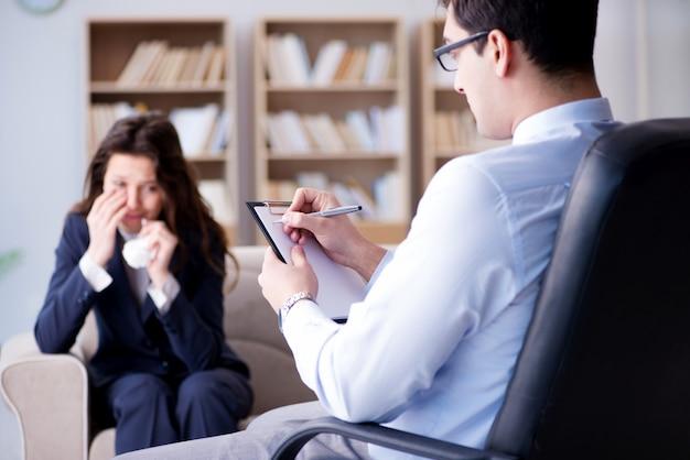 Zakenvrouw op psycotherapie