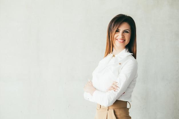 Zakenvrouw. succesvolle sterke vrouwelijke leider