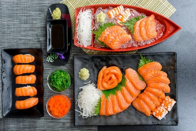 Zalm sashimi set