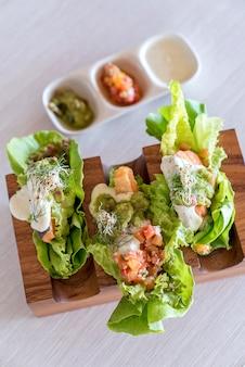 Zalm tacos