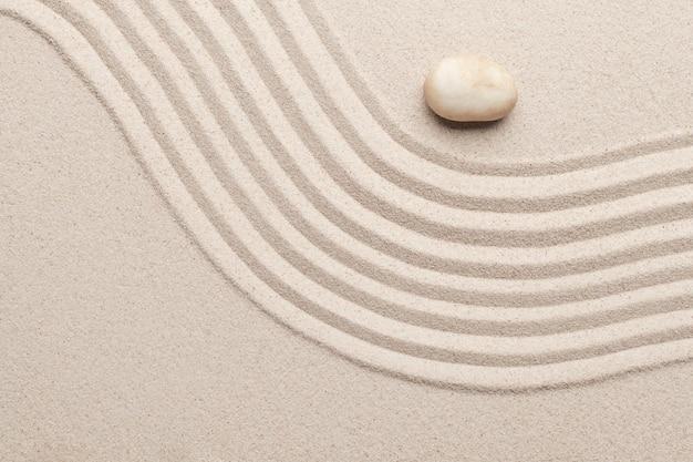 Zand oppervlaktetextuur achtergrond kunst van evenwicht concept