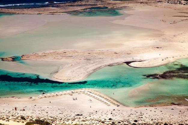 Zand van het strand van balos