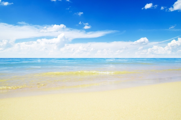 Zand van strand thailand zee