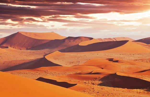 Zandduinen in de woestijn van namib