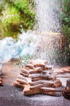 Zandkoek stervorm suiker koekjes