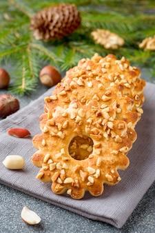 Zandkoekkoekjes met noten.