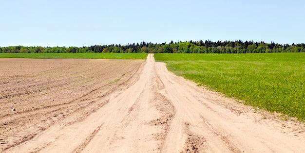 Zandweg voor auto's
