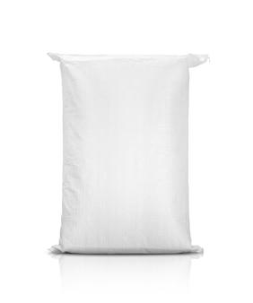 Zandzak of witte plastic canvaszak voor rijst of landbouwproduct