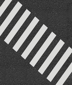 Zebrapad minimale stijl 3d-rendering