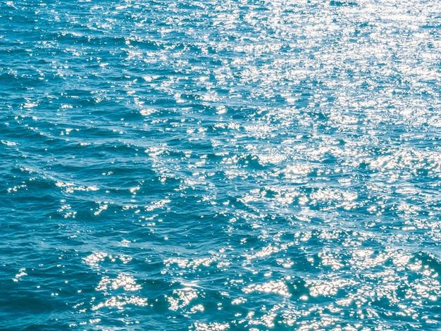 Zee- en oceaanwatertexturen en oppervlak