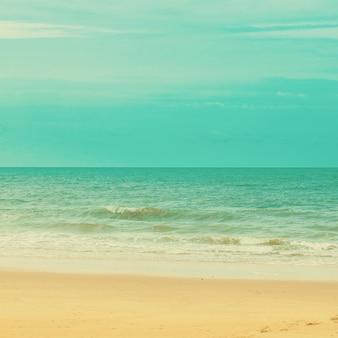 Zee en strand met vintage toon.