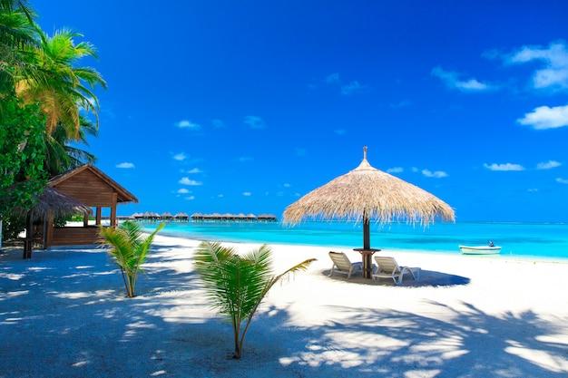 Zee in de malediven