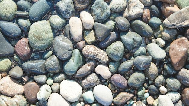 Zee stenen. achtergrond. textuur