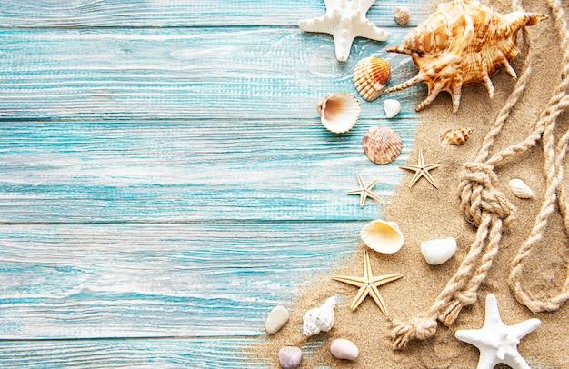 Zee zomer vakantie achtergrond