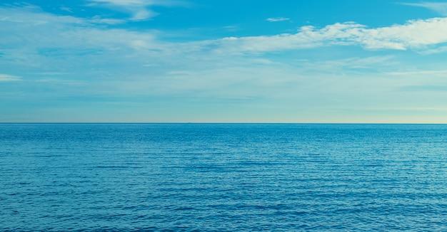Zeeblauw mooie rust. selectieve aandacht.