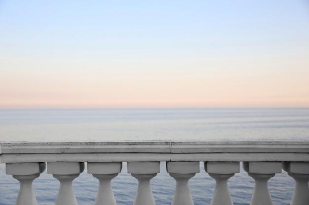 Zeegezicht vanaf balkon