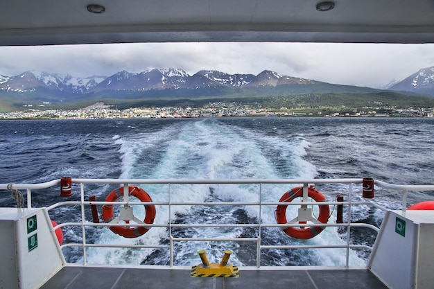 Zeehaven in de stad ushuaia in argentinië