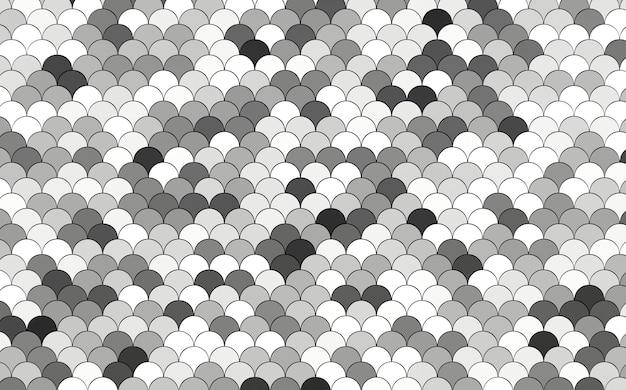 Zeemeermin vis draak schubben reptiel huid golf 3d-rendering