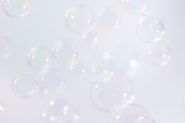 Zeepbellen zweven achtergrond.