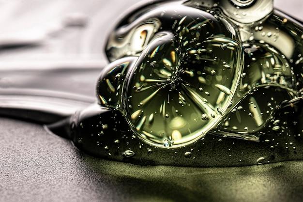 Zeer close-up gel hydroalcoolique voor handen