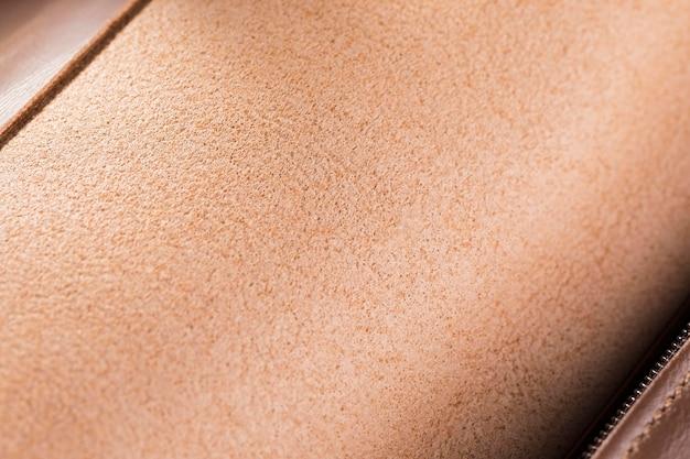 Zeer close-up kwaliteitsleer in bruin verloop