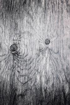 Zeer oude houten zwart-witte textuur
