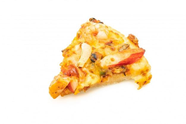 Zeevruchten pizza geïsoleerd
