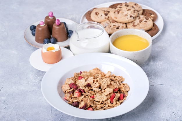 Zelfgemaakt crunch-ontbijt