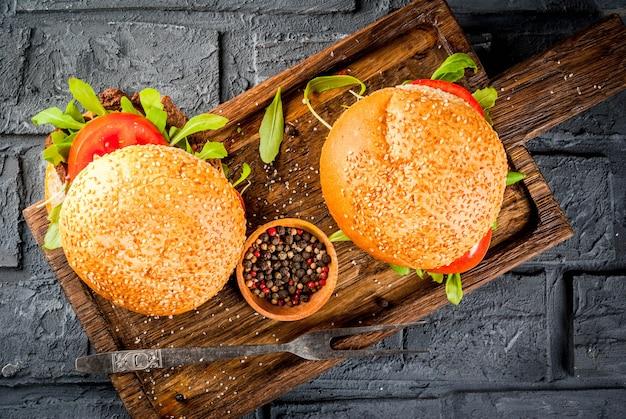 Zelfgemaakte bbq rundvlees sandwich