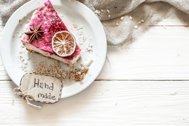 Zelfgemaakte cheesecake