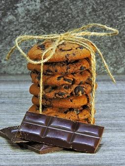 Zelfgemaakte chocoladekoekjes