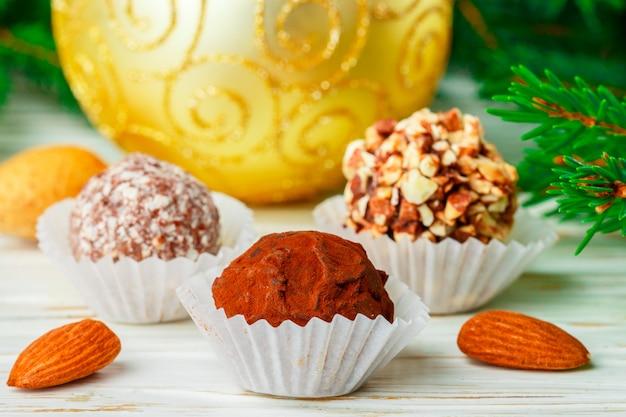 Zelfgemaakte chocoladetruffels