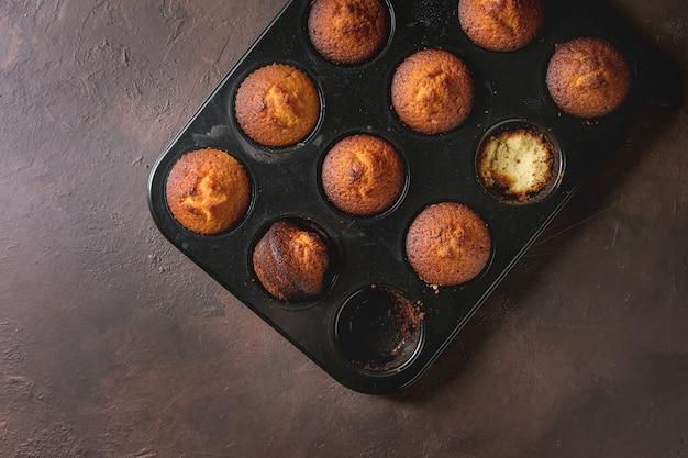 Zelfgemaakte citroenmuffins