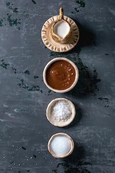 Zelfgemaakte gezouten karamel