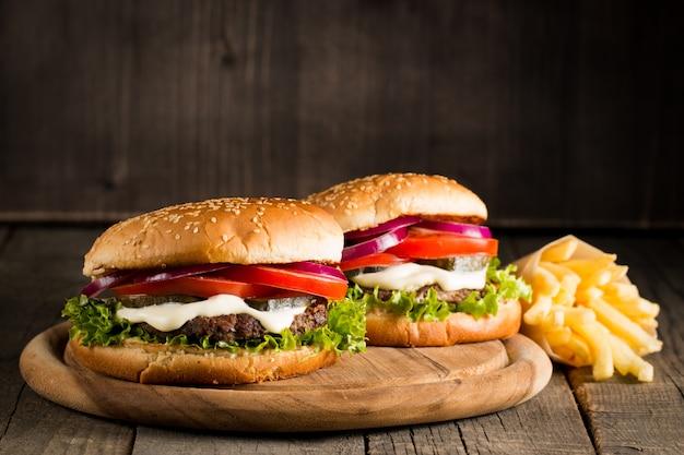 Zelfgemaakte hamburger