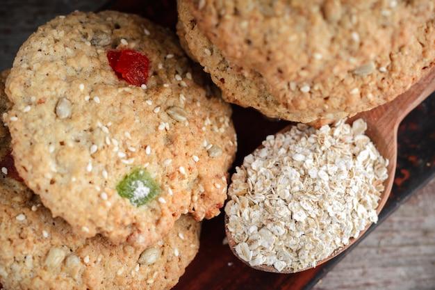 Zelfgemaakte havermout koekjes