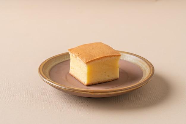 Zelfgemaakte japanse katoenen ei zachte biscuittaart
