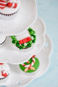 Zelfgemaakte kerst cupcake