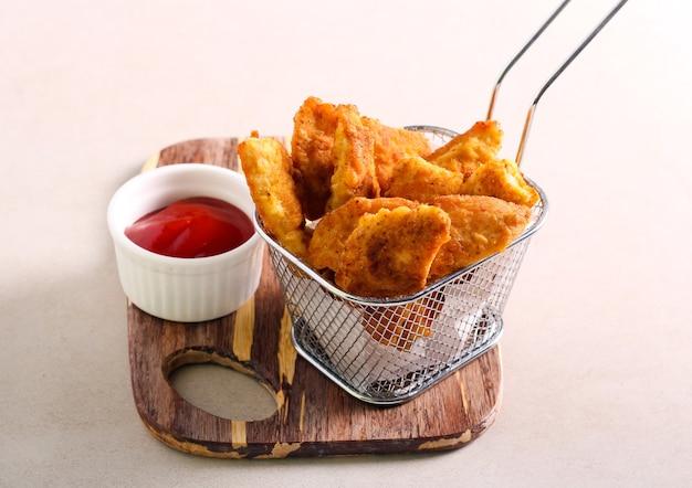 Zelfgemaakte kipnuggets, gezondere optie