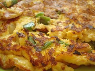 Zelfgemaakte omelet